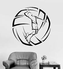 Vinyl Wall Decal Volleyball Player Ball Sport Stickers Mural Ig3784 Ebay