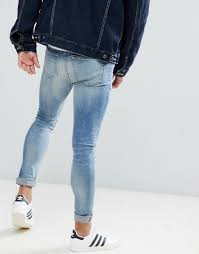new look super skinny jeans in blue