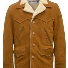 split cowhide leather rancher coat