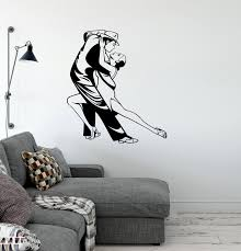Vinyl Decal Tango Dance Couple Passion Cool Room Decor Wall Stickers U Wallstickers4you