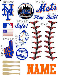 New York Mets Cranial Band Decoration From High Quality Vinyl