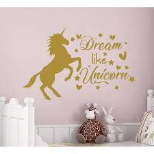 Shop Unicorn Wall Decal For Baby Girl Nursery Overstock 31974363