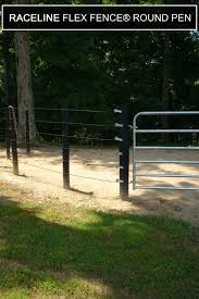 Raceline Flex Fence Coated Wire Round Pen In 2020 Horse Fencing Round Pen Horse Farms