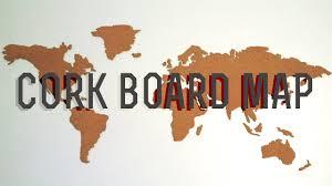 Diy Corkboard World Map Youtube