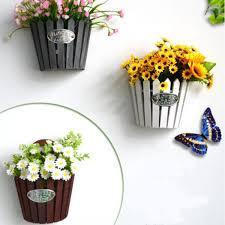 Wooden Hanging Flower Plant Pot Garden Wall Mounted Fence Basket Stand Decorations Flower Pot Sale Banggood Com Arrival Notice