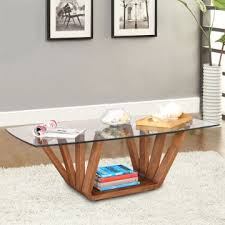engineered wood glass top center table