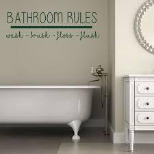 Amazon Com Bath Wall Decal For Bathroom Decor Bathroom Rules Removable Vinyl Sticker For Home Decoration Handmade