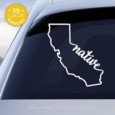 Amazon Com California State Native Decal Ca Native Car Vinyl Sticker Add A Heart Over Los Angeles San Francisco San Diego San Jose Handmade With Outdoor Vinyl Handmade