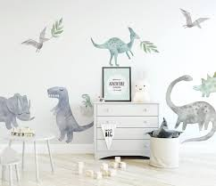 Watercolour Dinosaurs Wall Decal Set Facebook