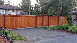 Olympia Cedar Double Swing Gate Ajb Landscaping Fence