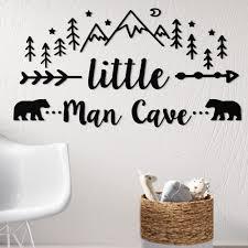 Harriet Bee Little Man Cave Quote Woodland Nursery Wall Decal Reviews Wayfair