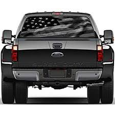 Amazon Com Black White American Flag Rear Window Decal Sticker Car Truck Suv Van 778 Large Home Kitchen
