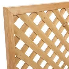 Unbranded 7 16 In X 24 In X 8 Ft Cedar Privacy Framed Lattice Sp 6046 The Home Depot