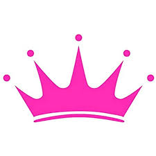 Amazon Com Princess Tiara Crown Pink Vinyl Sticker Decal For Car Truck Suv Laptop Bumper Window Arts Crafts Sewing