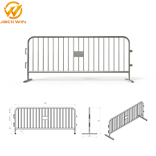 China Hot Dipped Galvanized 2200 1100mm Welded Mesh Temporary Barricade Fence China Pedestrian Barrier Iron Barrier