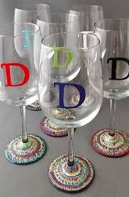 hand painted mosaic wine glasses