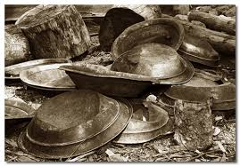 panning for gold