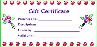 free printable gift certificates pdf