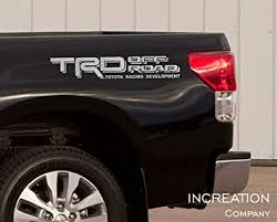 Amazon Com Increation Company Tundra Tacoma Truck Body Side Bed Decal X2 Silver Vinyl Stickers Trd Off Road 4x4 Custom Auto Graphics Racing Development Factory Style Design Automotive