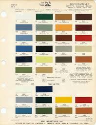 1973 chevrolet color chips 1973