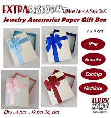 gift box necklace earrings ring