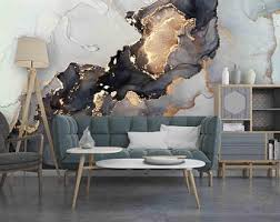 Marble Wall Decal Etsy