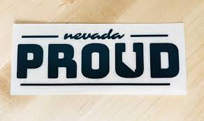 Nevada Proud Decal Black State 36 Clothing Co