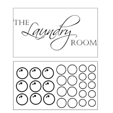 Shop Decal The Walls Laundry Room With Bubbles Vinyl Wall Art Decal On Sale Overstock 7018239