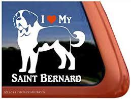 Amazon Com I Love My Saint Bernard Dog Vinyl Window Decal Sticker Automotive