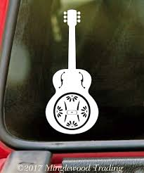 Dobro Vinyl Decal Guitar Bluegrass Country Music Die Cut Sticker Minglewood Trading