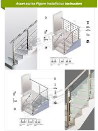 hot s stainless steel glass railing