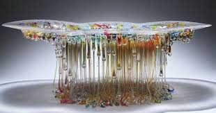 jellyfish glass tables with dripping