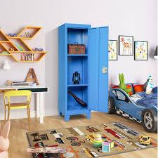 Kids Storage Metal Locker With 2 Adjustable Shelves For Bedroom Kids Room Metal Kids Storage Lockers Walmart Com Walmart Com