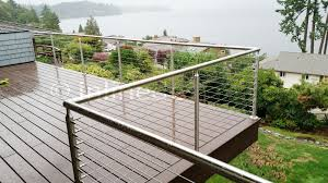 36 Pl Cable Railing Round Top Mount Middle Post Cable Railing Stainless Steel Railing Steel Railing