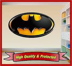 Batman Logo Wall Art Printed Vinyl Sticker Decal Childrens Bedroom Boys Girls Ebay