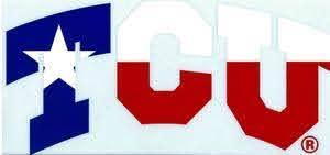 Tcu Large Texas Flag Car Decal Brown Bag Etc