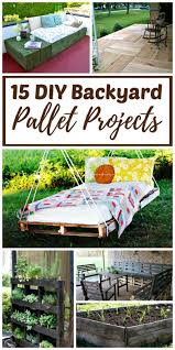 15 diy backyard pallet projects with
