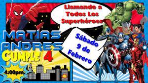 Superheroes Video De Invitacion O Cumpleanos De Para Whatsapp O