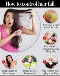 how to control hair fall femina in