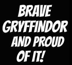 Brave Gryffindor And Proud Of It 6 Whitevinyl Decal Car Windows Laptops Ebay