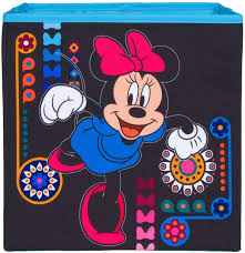 Amazon Com Everything Mary Minnie Mouse Collapsible Storage Bin By Disney Cube Organizer For Closet Kids Bedroom Box Nursery Chest Foldable Home Decor Basket Container With Strong Handles And Design Home