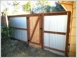 corrugated metal fence backyard ideas