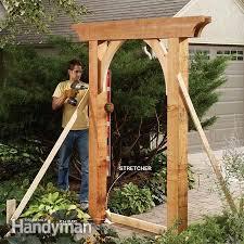garden arch design wooden