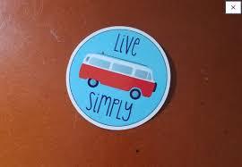 Vw Bus Live Simply Vinyl Decal Weatherproof Indoor Outdoor 3 Etsy