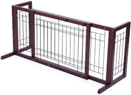 71 Inch Wood Freestanding Dog Pet Fence Indoor Safety Gate For Small Dog Amazon Co Uk Baby