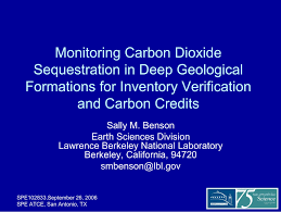 monitoring carbon dioxide sequestration