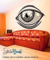 Vinyl Wall Decal Sticker Abstract Human Eye Kriley122s Stickerbrand On Artfire