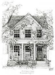 House Coloring Page Kleuren Voor Volwassenen Tekening