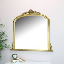 gold overmantel wall mirror vintage