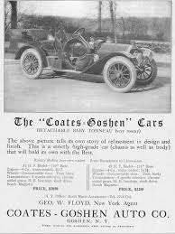 "Goshen NY - The ""Coates-Goshen"" automobile...manufactured ..."